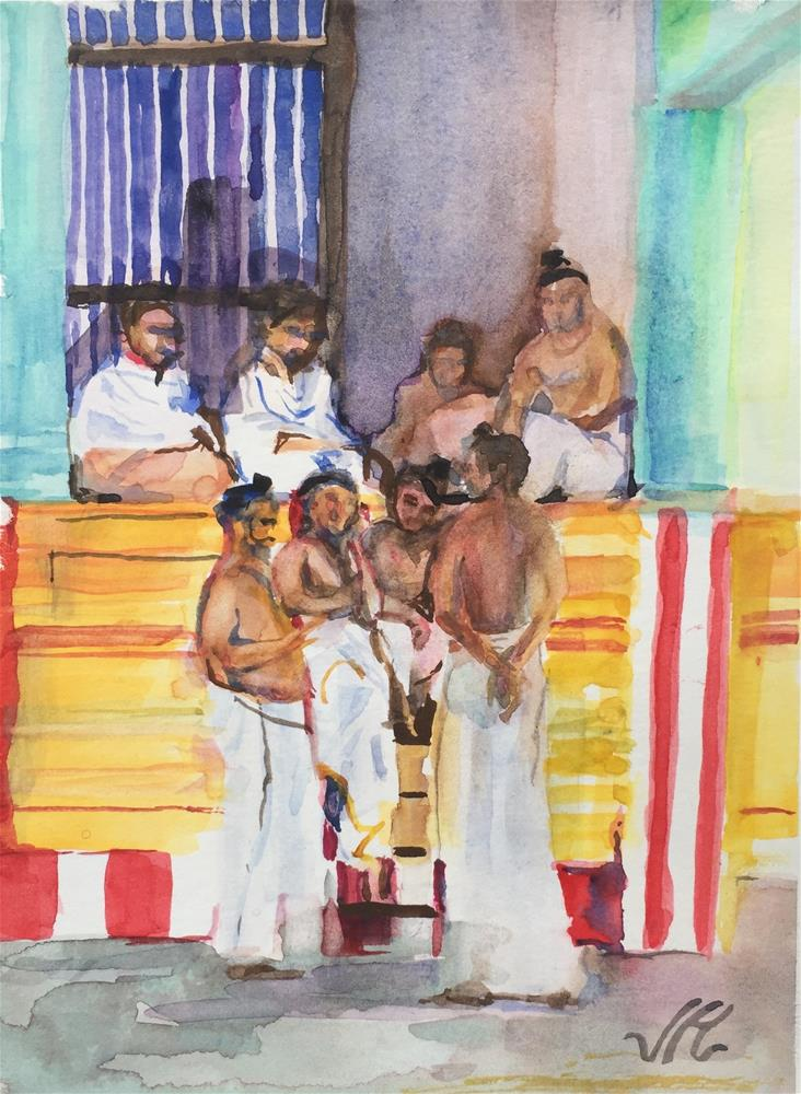"""Hindu Monks"" original fine art by Jean Krueger"