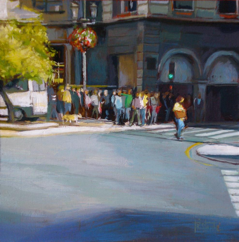 """Waiting the traffic lights"" original fine art by Víctor Tristante"