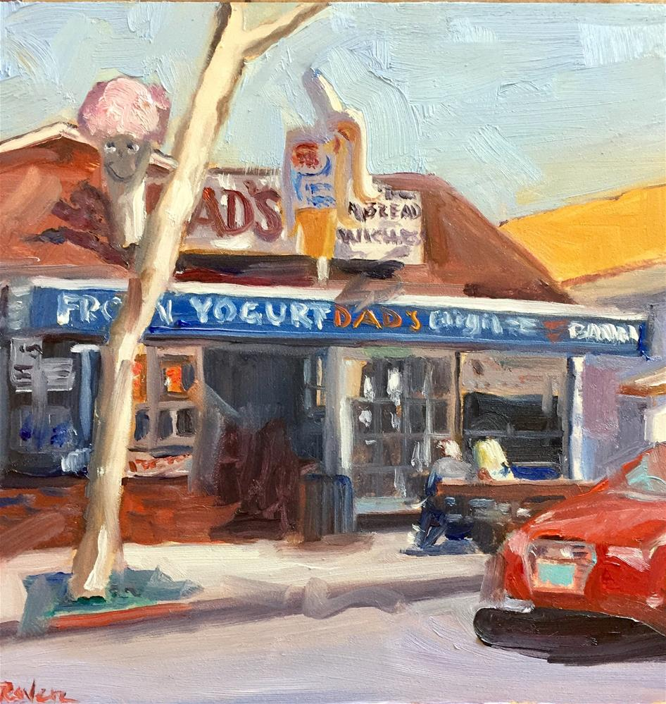 """Dad's on Balboa"" original fine art by Donna Raven"