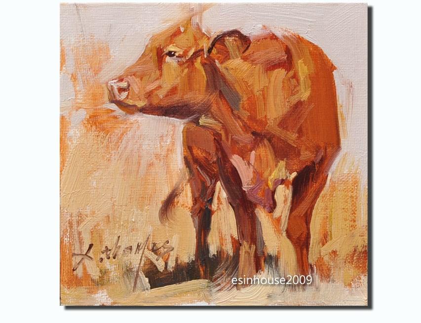 """COW"" original fine art by Thomas Xie"