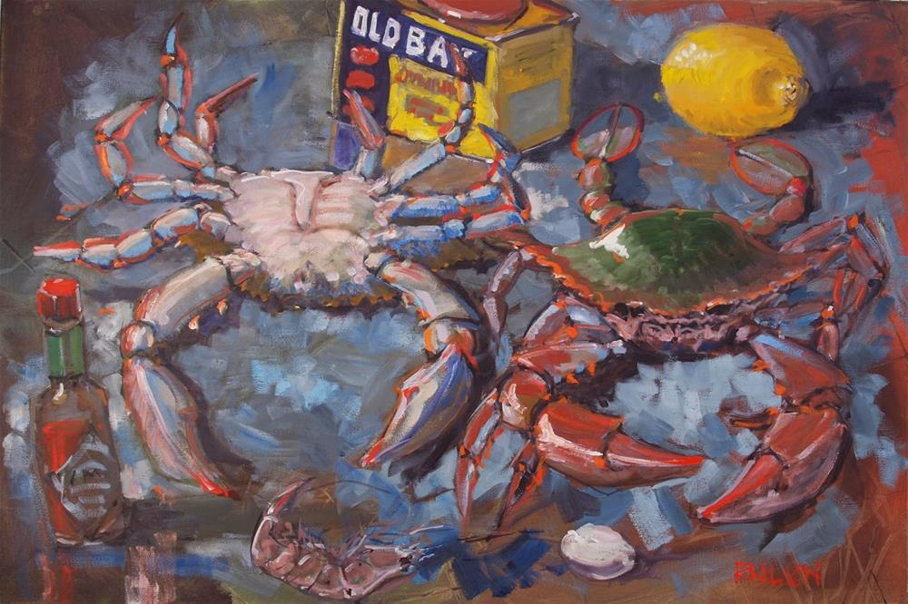 """""""Still life with Spice and Bluecrabs"""" original fine art by Rick Nilson"""
