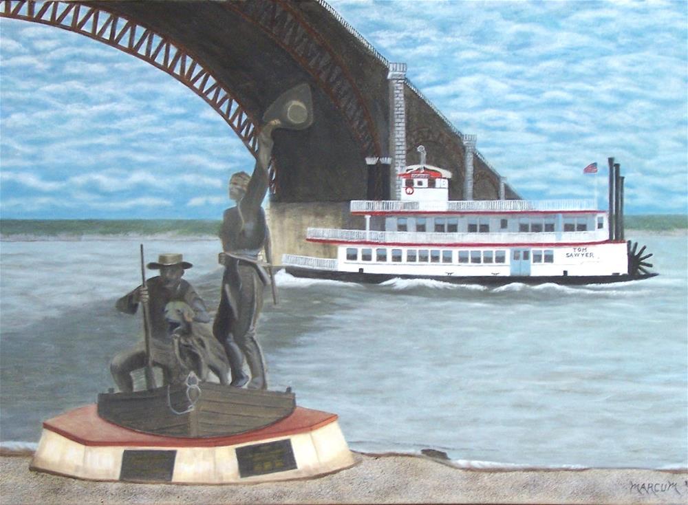 """Historic St. Louis Riverfont"" original fine art by John Marcum"