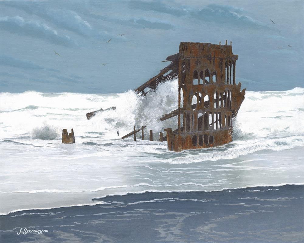 """Ravages of Time"" original fine art by Jeanne Strohrmann"