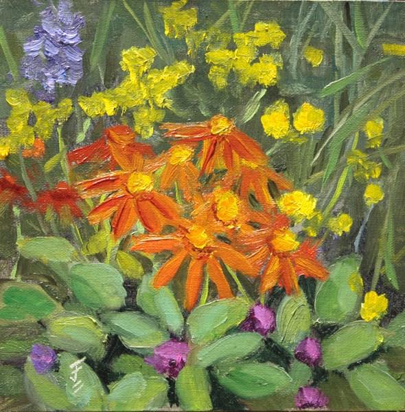 """Flower Medley"" original fine art by Jane Frederick"
