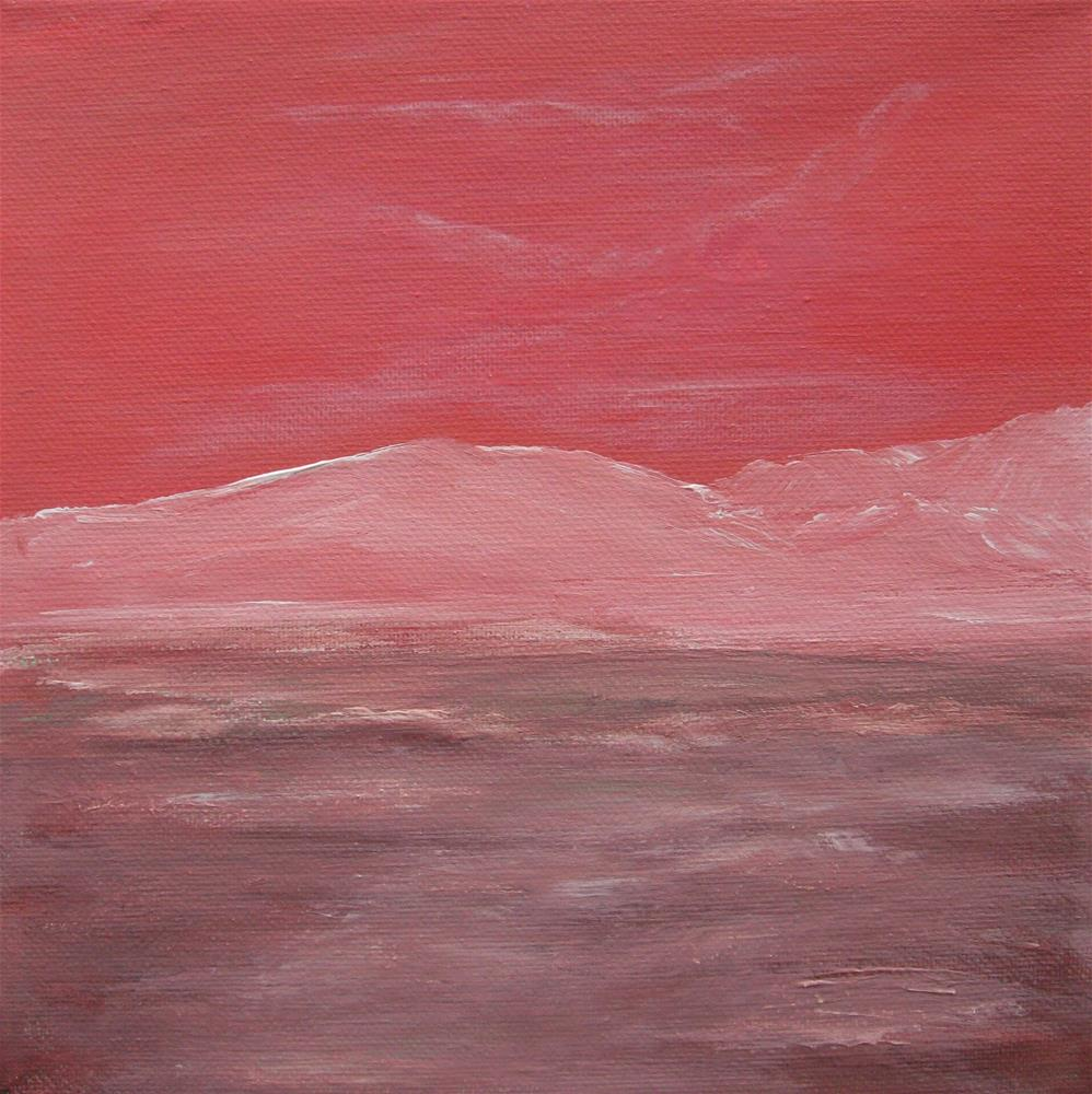 """Red Sky"" original fine art by Alina Frent"