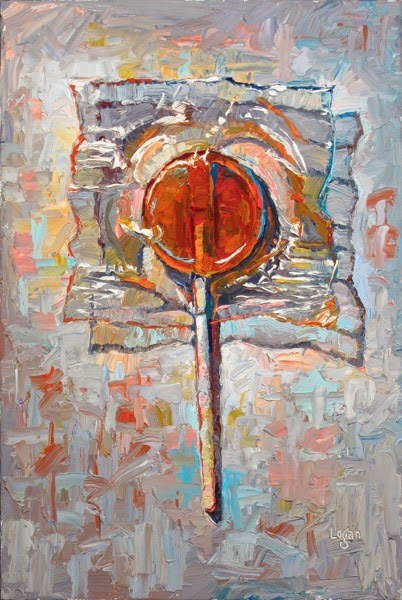 """Lollipop Orange"" original fine art by Raymond Logan"