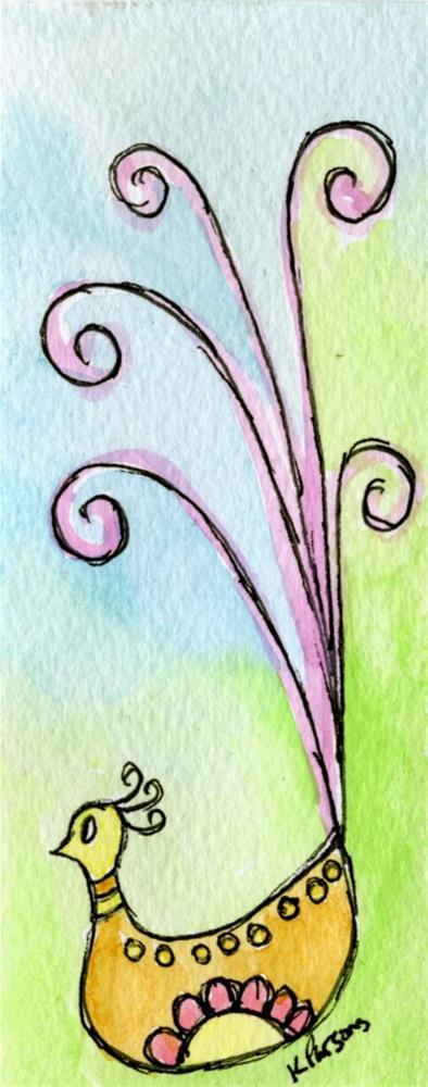 """""""Happy Bird"""" original fine art by Kali Parsons"""