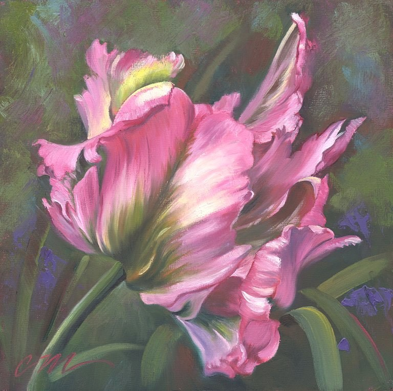 """Pink Flare"" original fine art by Connie McLennan"