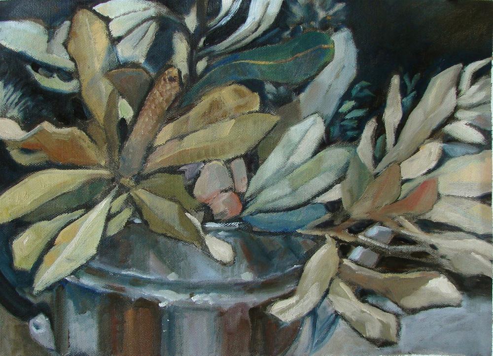"""Banksia teapot"" original fine art by Myriam Kin-Yee"