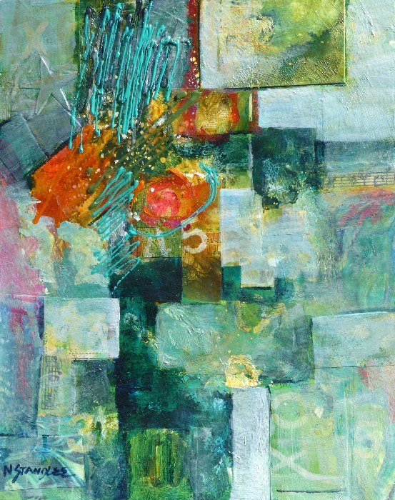 """Abstracted Path 14007"" original fine art by Nancy Standlee"