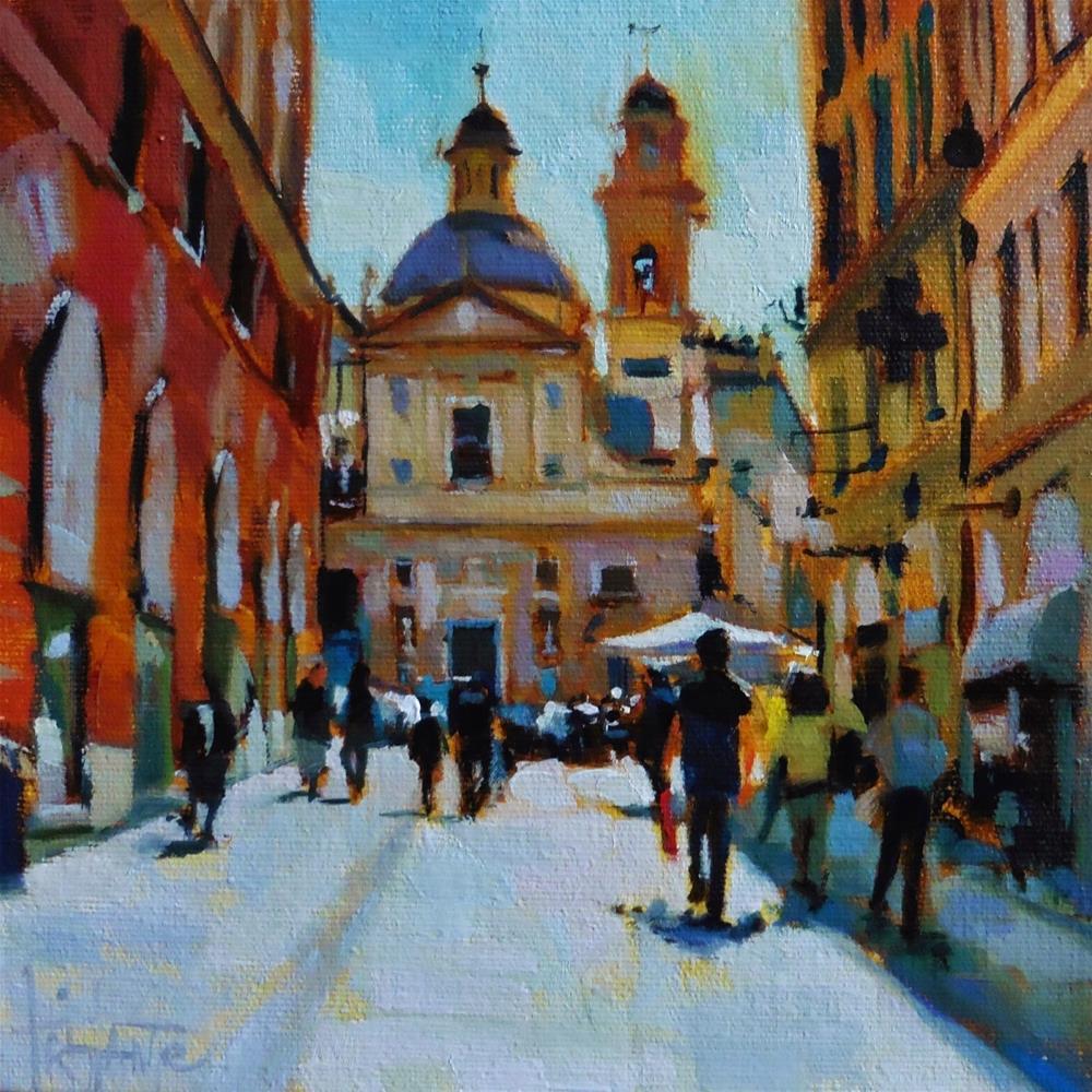 """Italian street"" original fine art by Víctor Tristante"