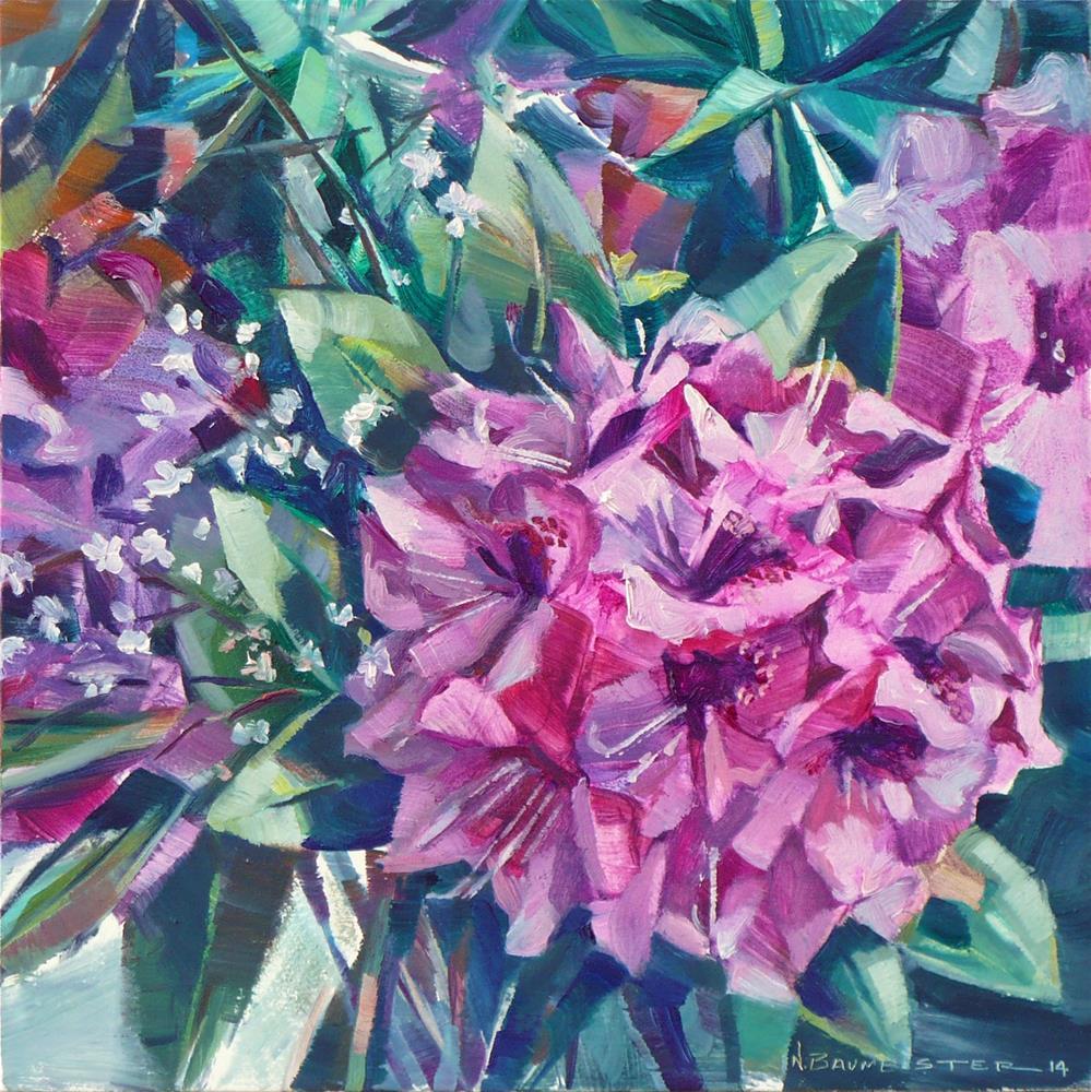 """""""What a bloom!"""" original fine art by Nicoletta Baumeister"""