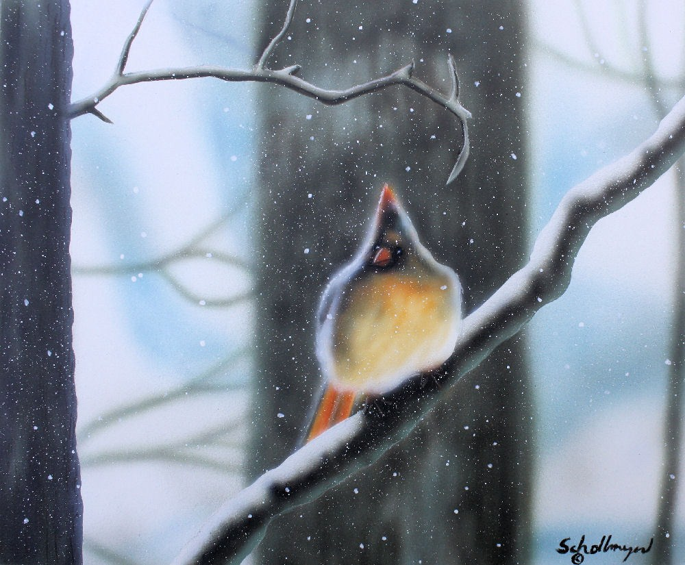 """""""Waiting for the Thaw"""" original fine art by Fred Schollmeyer"""