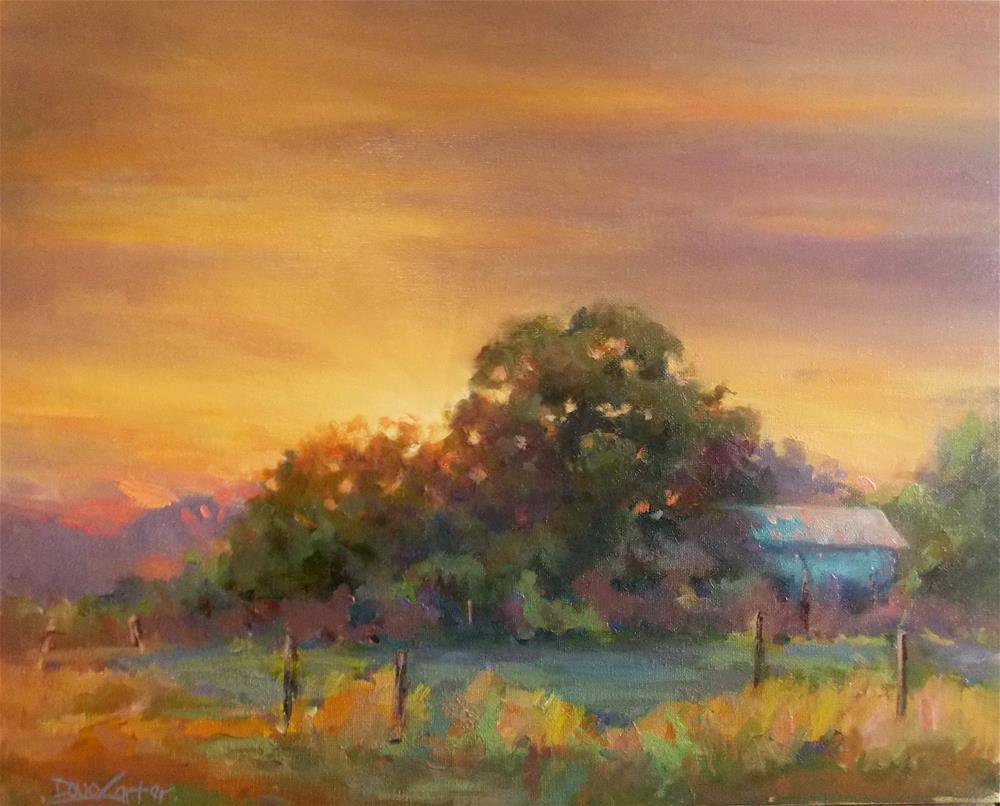 """""""AFTER GLOW"""" original fine art by Doug Carter"""