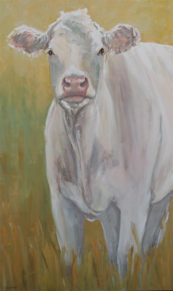 """Really big cow"" original fine art by Carol Carmichael"