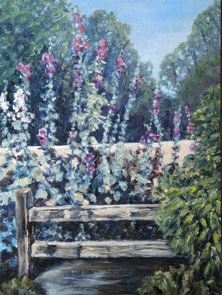 """""""On My Walk"""" original fine art by Candi Hogan"""