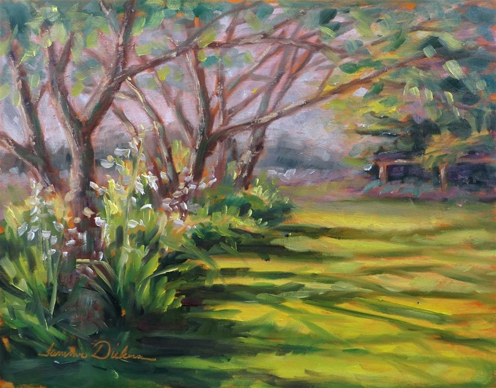 """""""Morning Light on the Lawn"""" original fine art by Tammie Dickerson"""