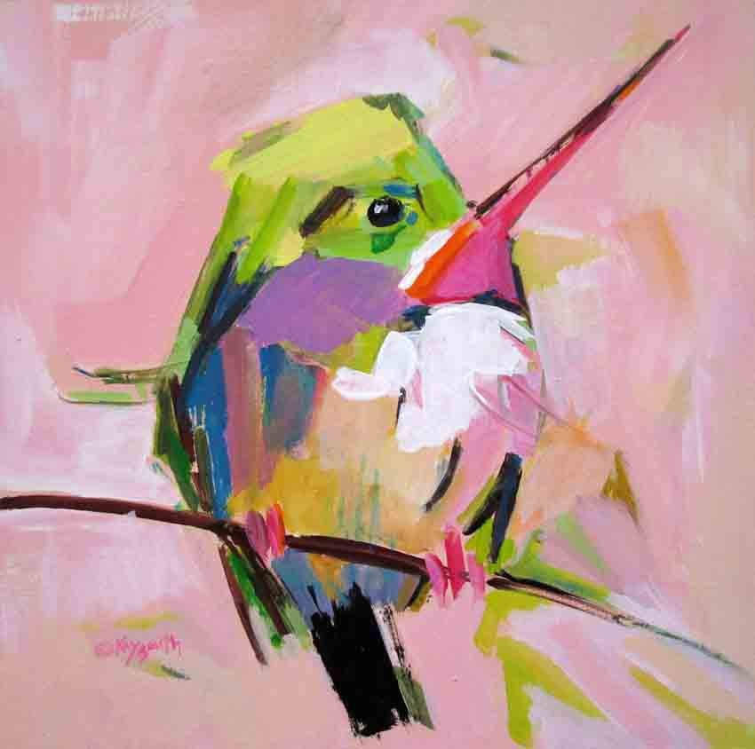 """Fat Tody Bird"" original fine art by Kay Smith"