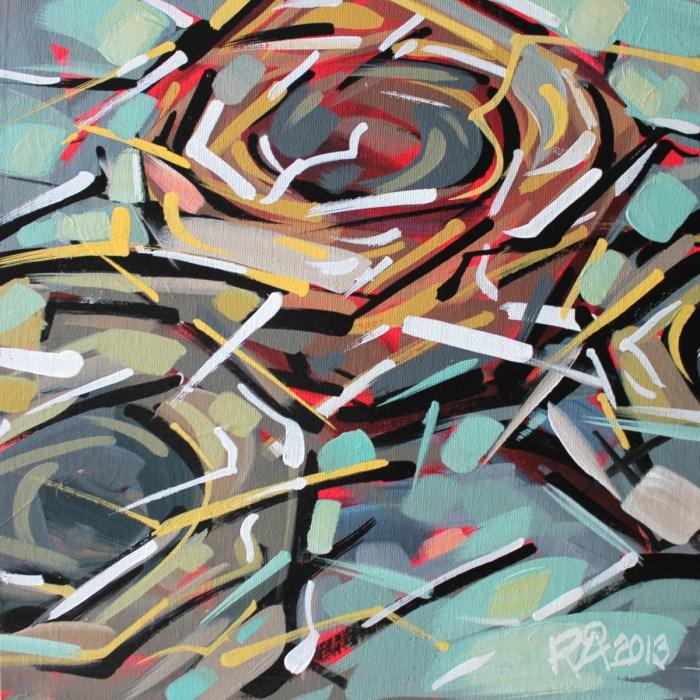 """Bird's Nest Abstraction 6"" original fine art by Roger Akesson"