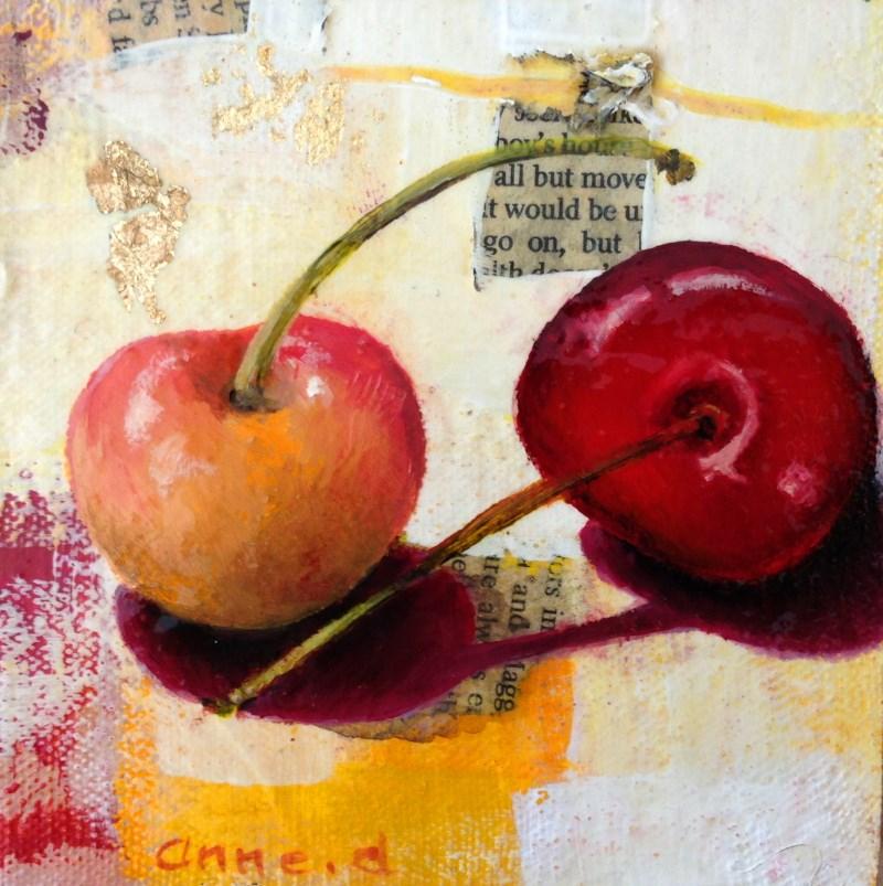 """Rainier Cherries #3"" original fine art by Anne Ducrot"