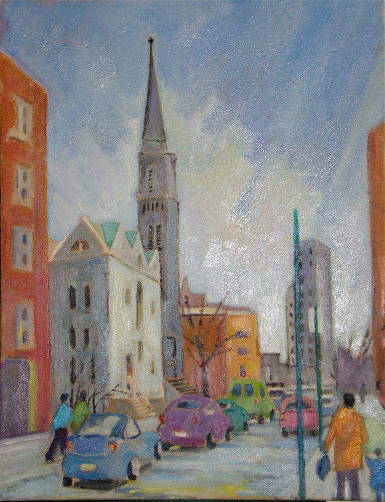 """River Avenue"" original fine art by meribeth coyne"