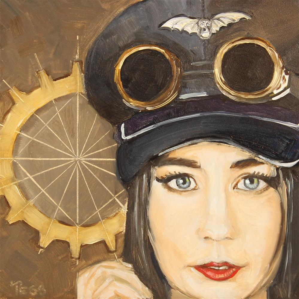 """Day 28- Steampunk Revolution- Abney Park"" original fine art by Tess Lehman"