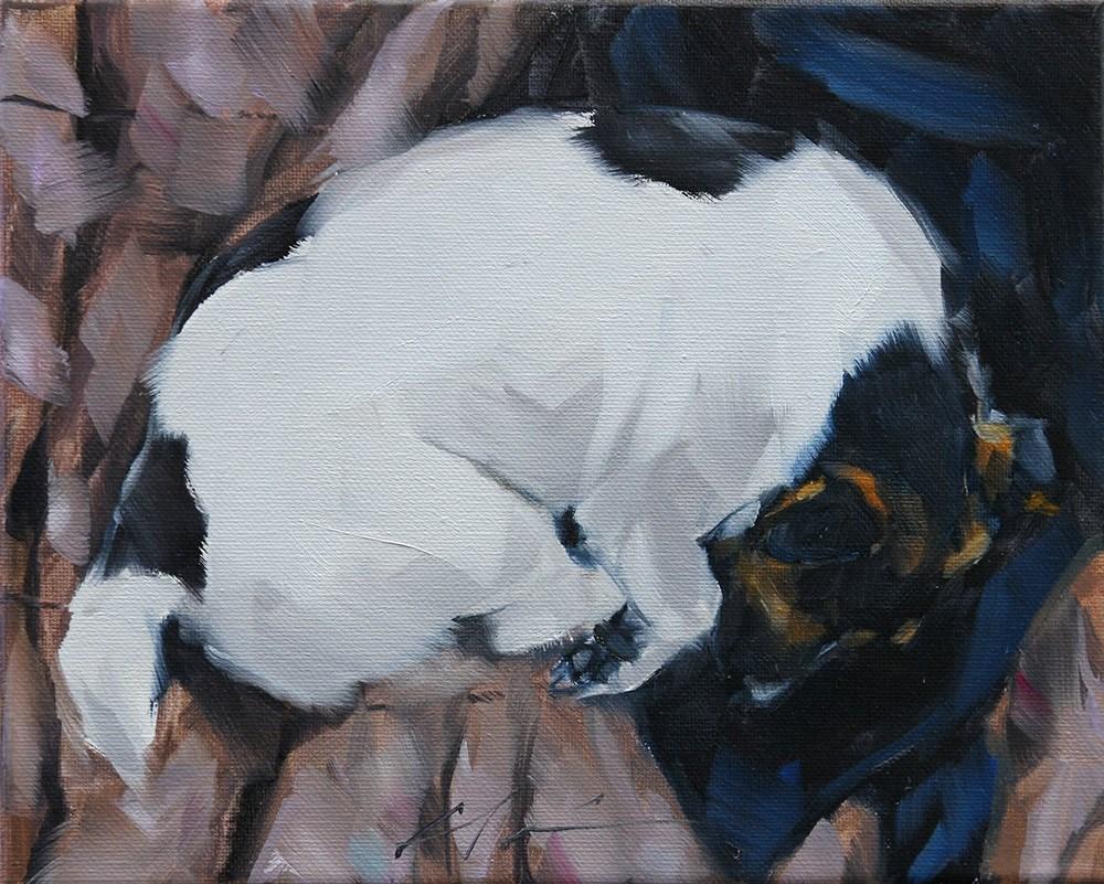 """The Daily Dog - Twenty Two"" original fine art by Clair Hartmann"