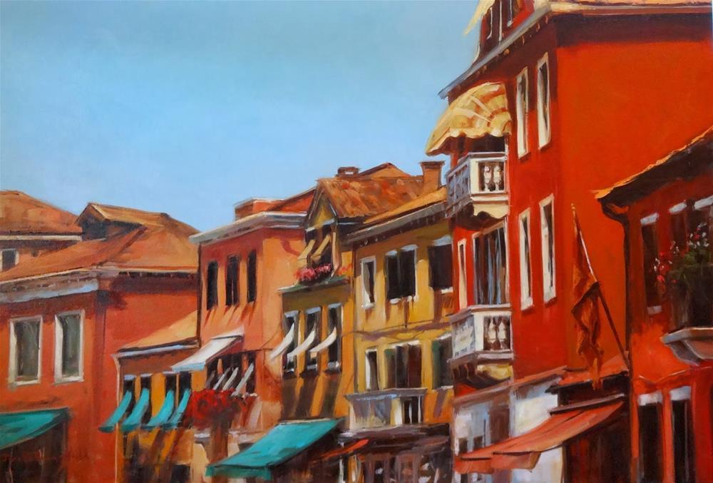 """""""Venetian Facades II"""" original fine art by Jonelle Summerfield"""