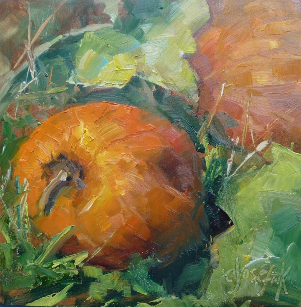 """Pumpkin Patch"" original fine art by Carol Josefiak"