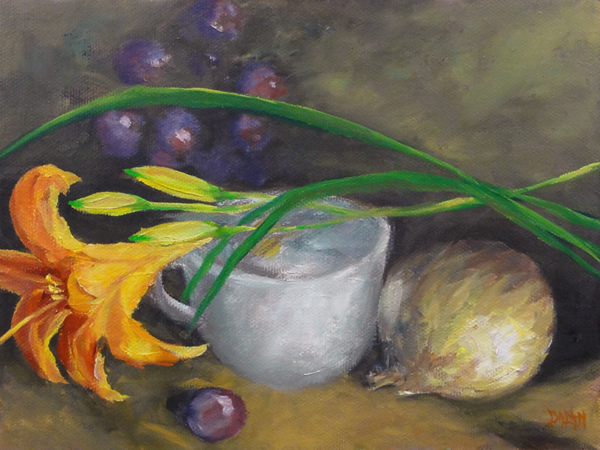 """Tigerlily"" original fine art by Dalan Wells"