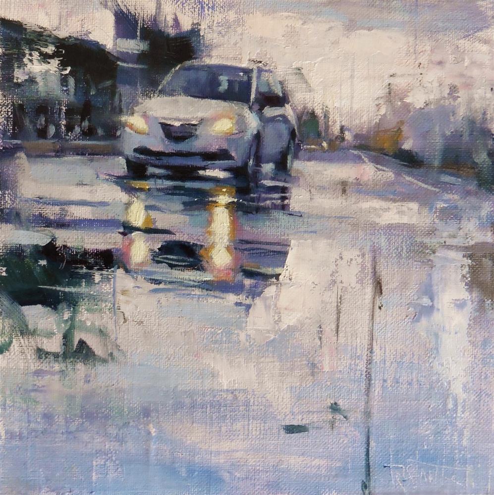 """Cold and rainy"" original fine art by Víctor Tristante"