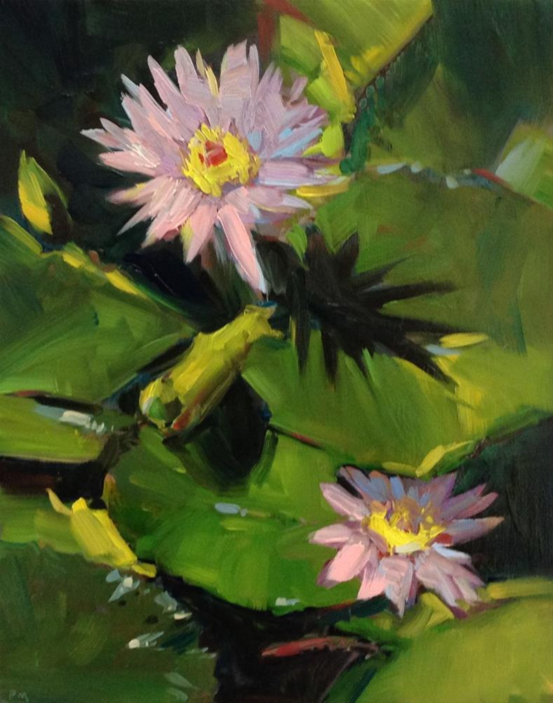 """""""L is for Lily Pads"""" original fine art by Patti McNutt"""