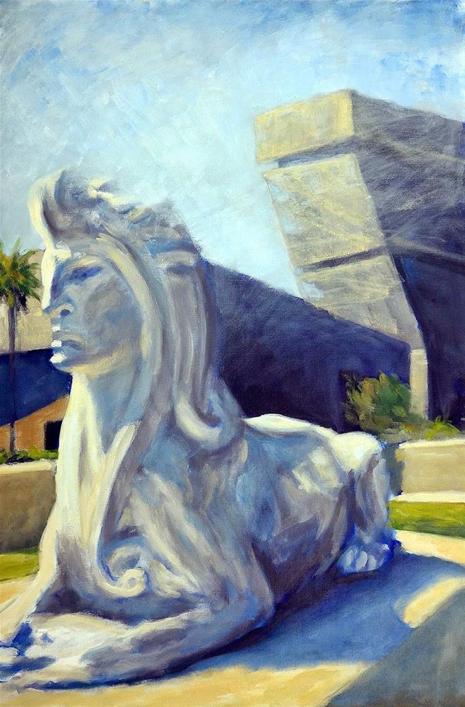 """""""Sphynx"""" original fine art by J. Farnsworth"""