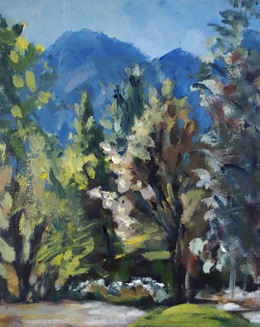 """Yosemite Morning"" original fine art by J. Farnsworth"