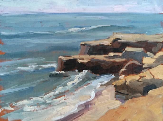 """Afternoon at Windansea"" original fine art by Deborah Newman"