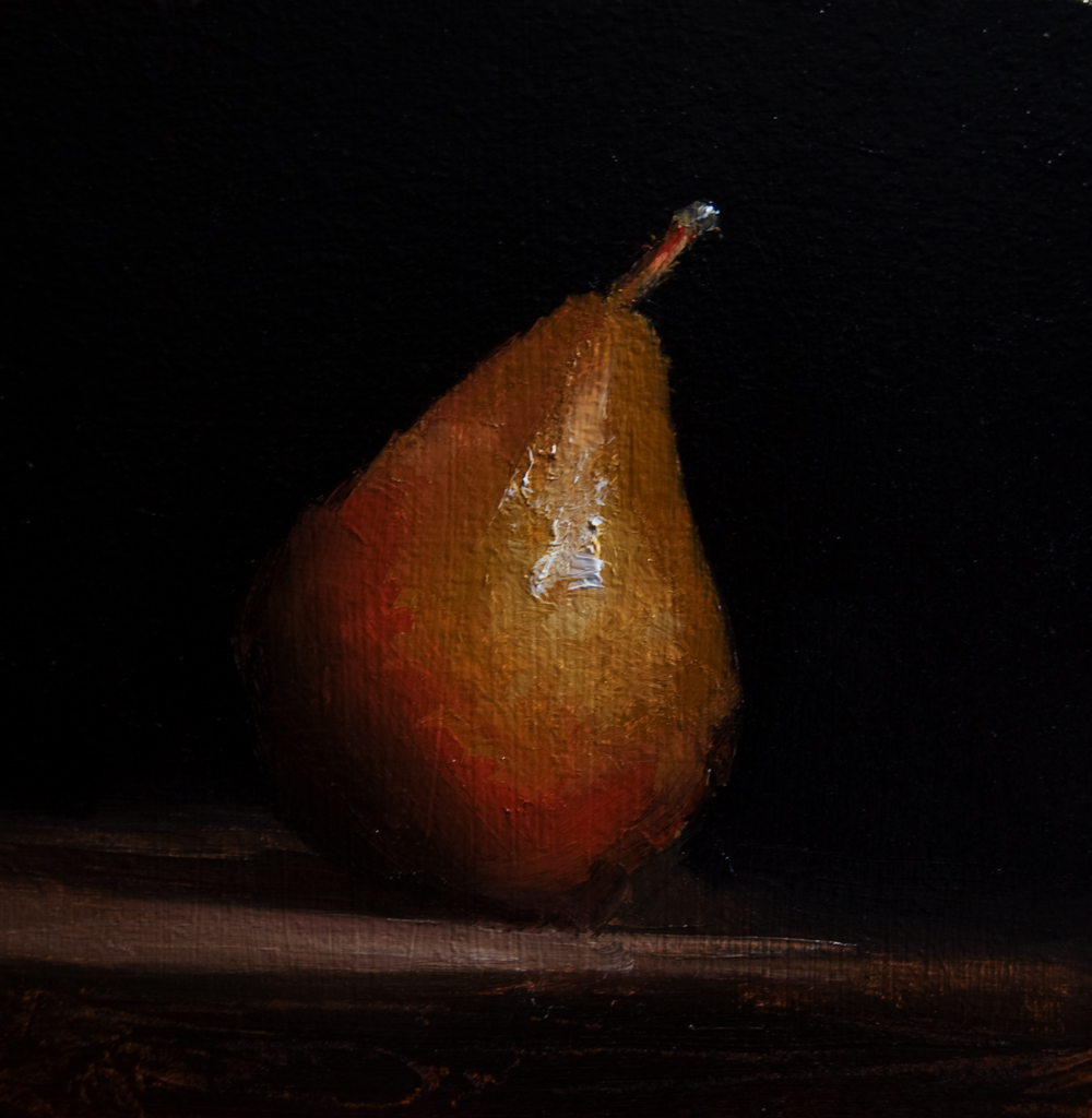 """Pear No. 2"" original fine art by Neil Carroll"