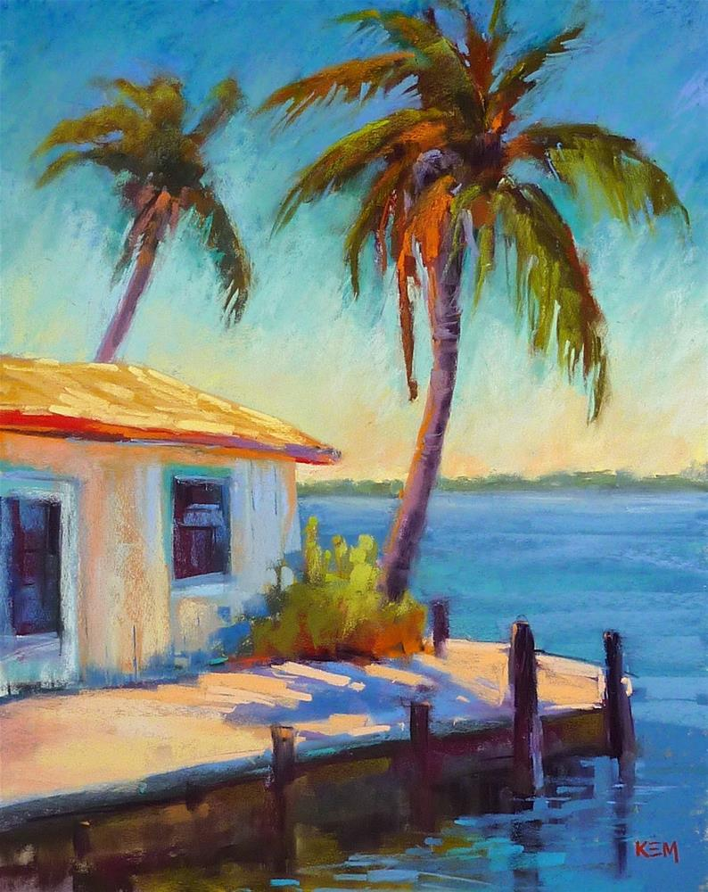 """Monday Mini Pastel Demo...Old Florida Fishing Shack"" original fine art by Karen Margulis"
