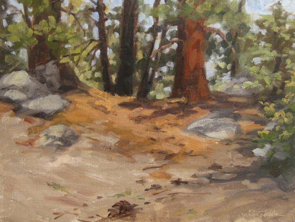 """""""Ridge Sketch"""" original fine art by Karen Werner"""