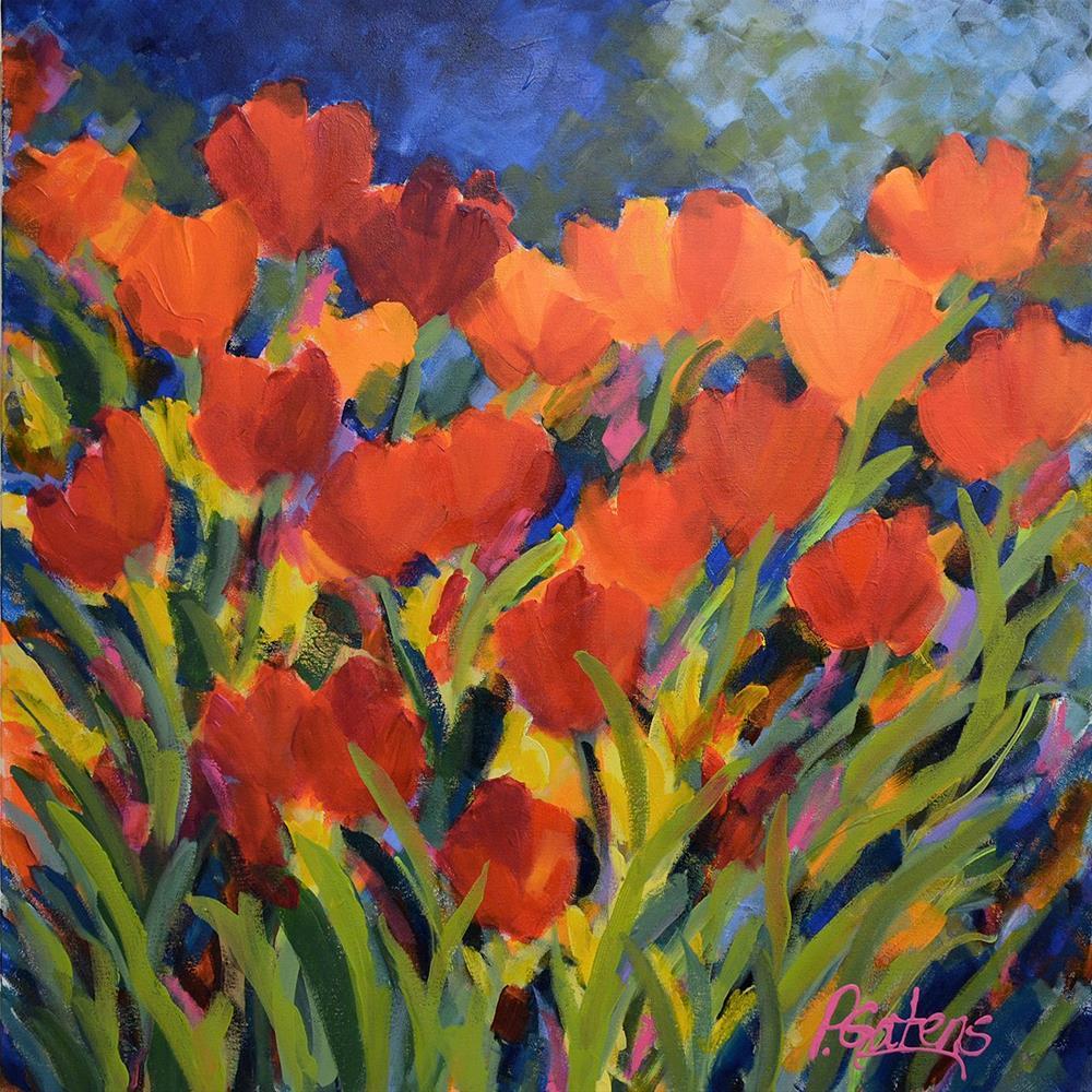 """Erika's Tulip Garden"" original fine art by Pamela Gatens"