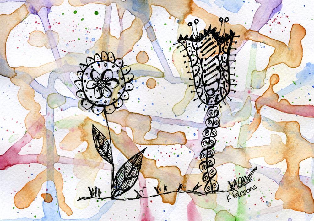 """The Odd Couple"" original fine art by Kali Parsons"