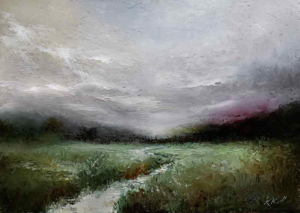 """The Stream"" original fine art by Bob Kimball"