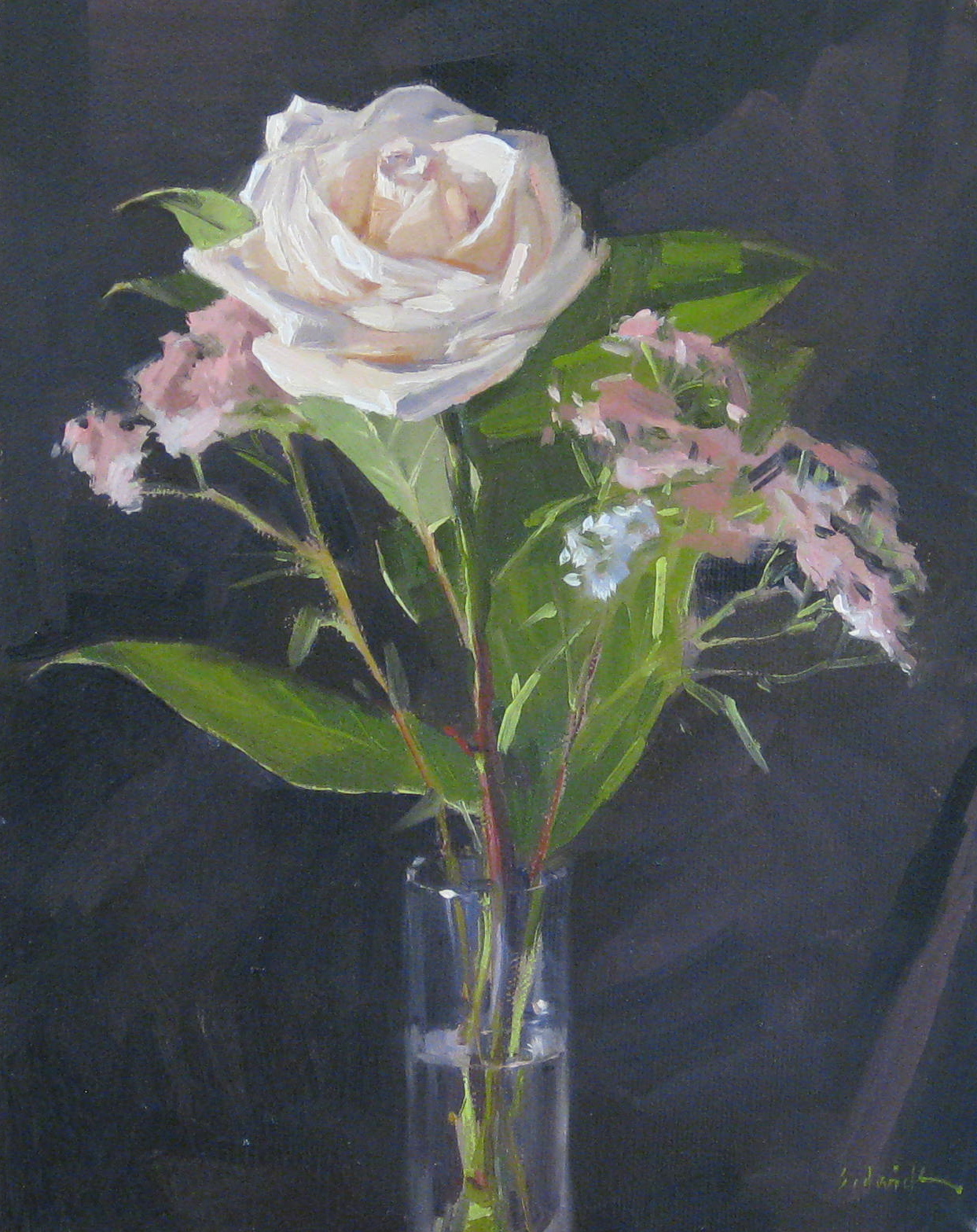 """Creamy Rose - and a Blog Giveaway!"" original fine art by Sarah Sedwick"