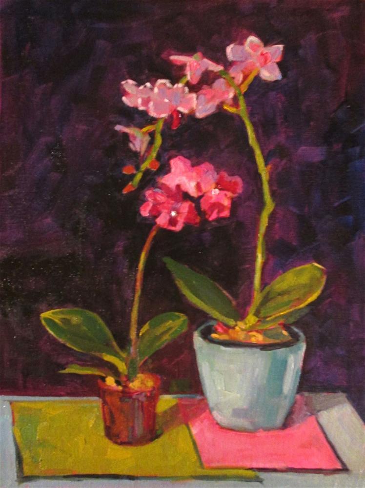 """""""Orchid Dance. 12x16 oil on canvas board."""" original fine art by Mary Sheehan Winn"""