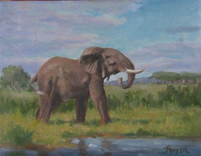 """""""Time for refreshments"""" original fine art by Jim Moyer"""