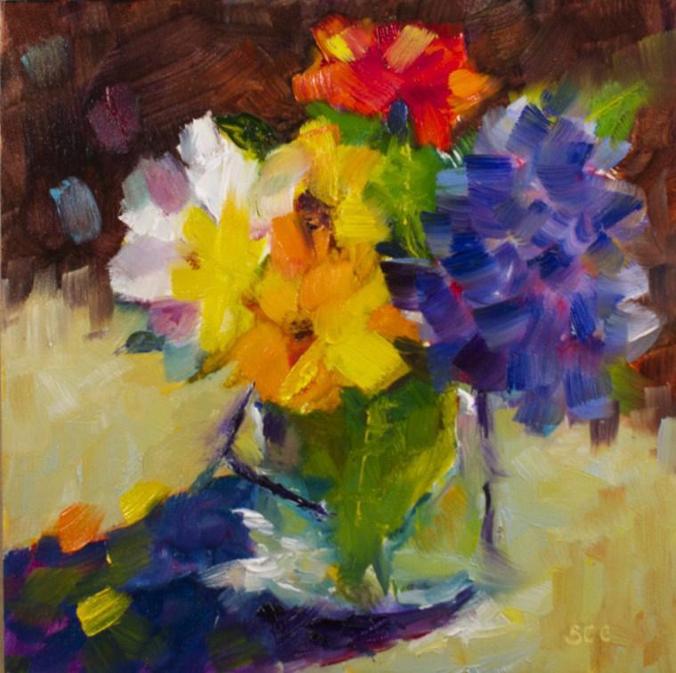 """Valentine Bouquet"" original fine art by Sue Churchgrant"
