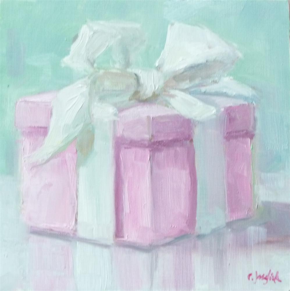 """It's a Girl"" original fine art by Carol Josefiak"