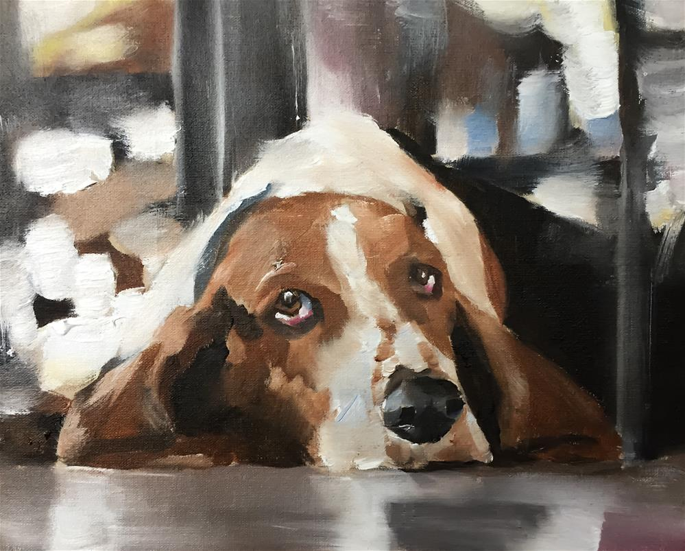 """Basset Hound"" original fine art by James Coates"