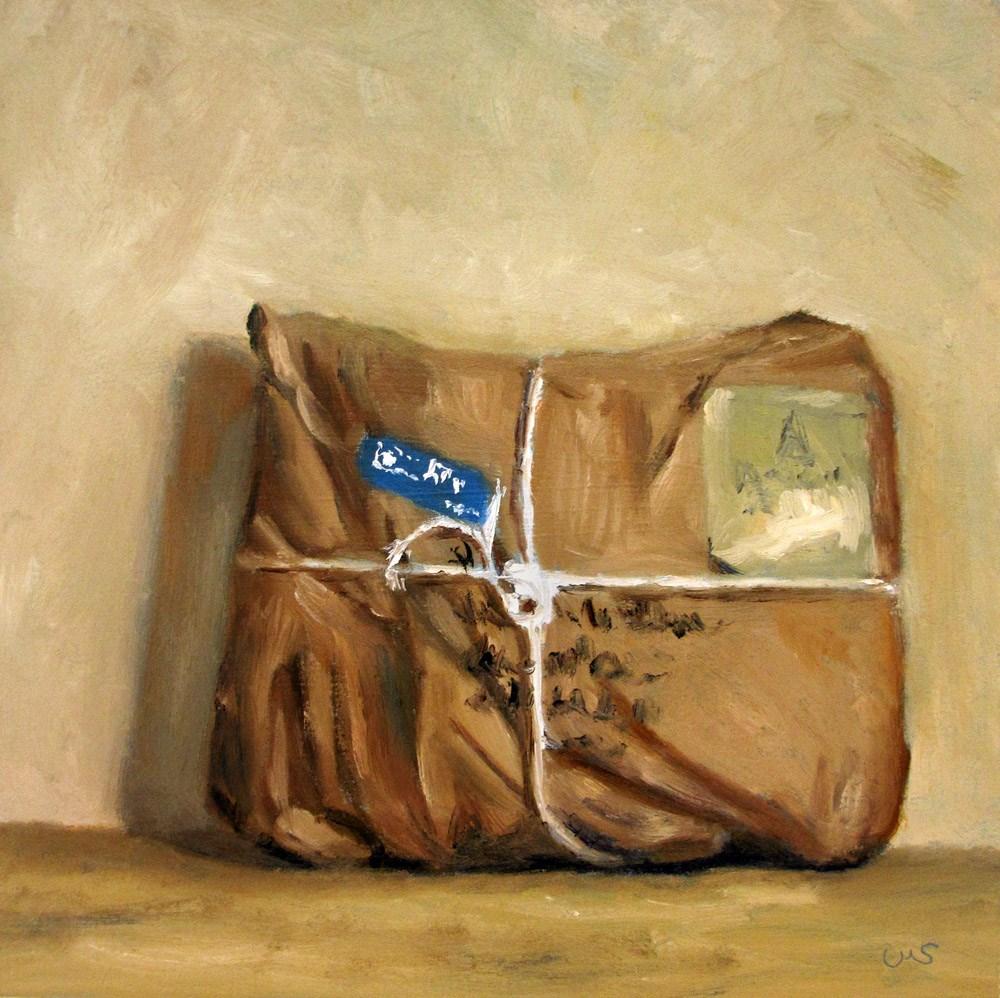 """""""A Parcel from abroad"""" original fine art by Ulrike Miesen-Schuermann"""