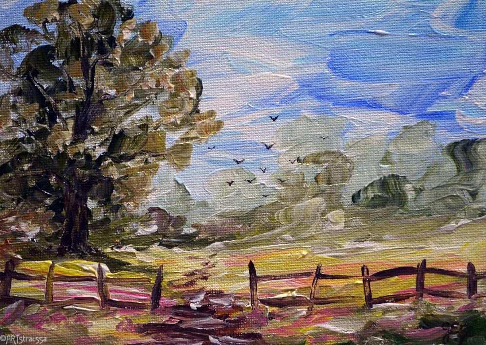 """Belmont's Country Path"" original fine art by Gloria Ester"