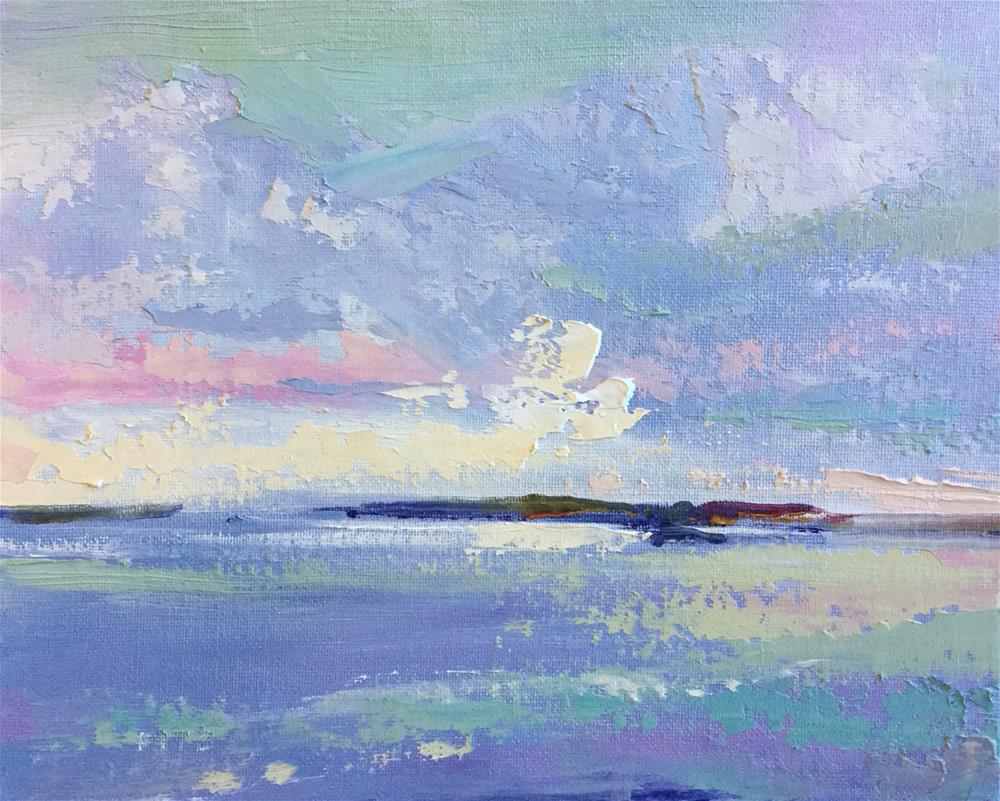 """""""Impasto Seascape 10"""" original fine art by Charlotte Fitzgerald"""